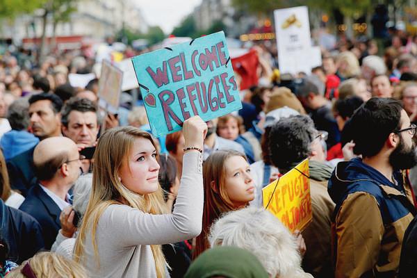 France – Accueil de réfugiés du Moyen-Orient par des particuliers
